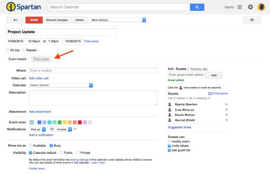 FindTime google tips on calendar find a time & invite a group technology,Google Calendar Event Invite
