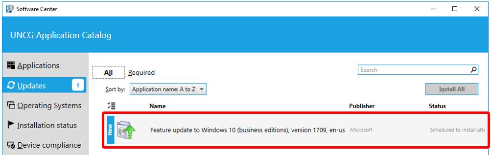 UPDATE: ITS Release of Windows 10 Fall Creators Update