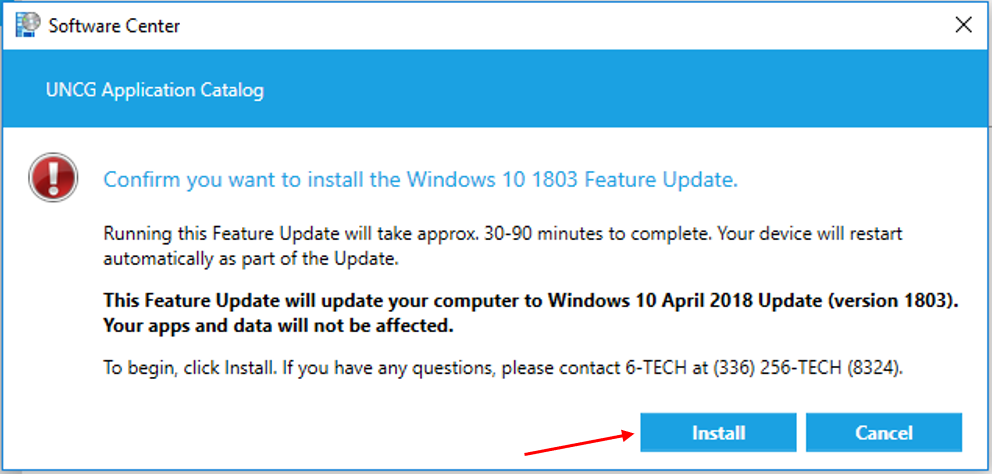 ITS to Release Windows 10 1803 Update | Friday, August 17