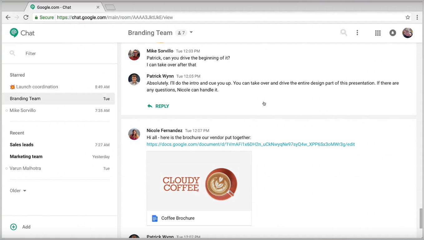 Improved Hangouts Chat for Desktops | ITS News