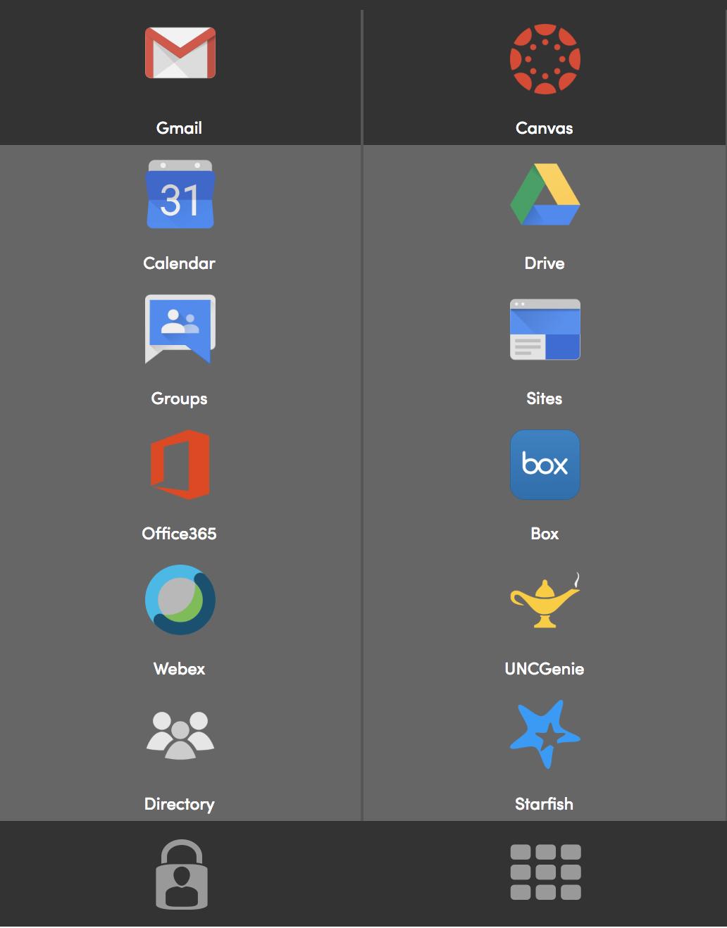 Screenshot of Application Bar on iSpartan