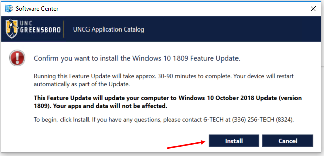 ITS to Release Windows 10 1809 Update   Thursday, April 4